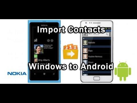 exporter contact windows phone