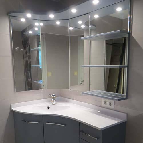meuble salle de bain angle
