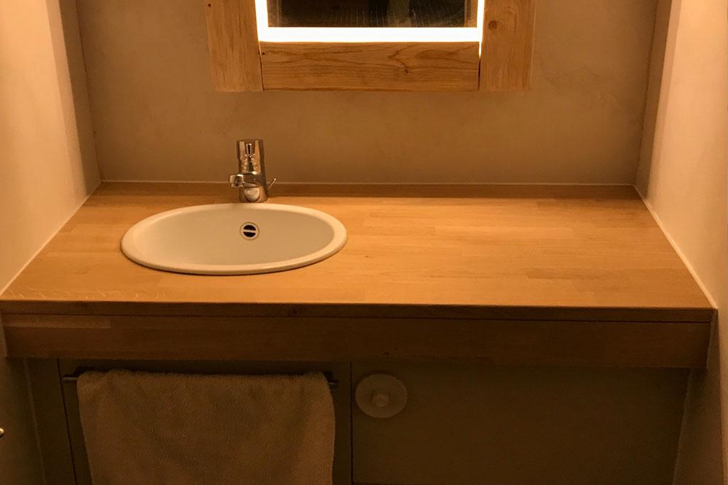 plan de travail pour salle de bain