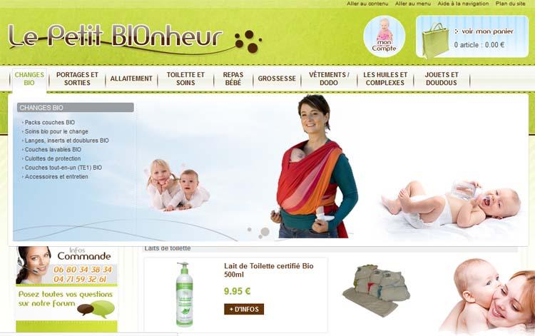 site pour bébé