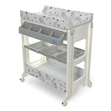 table à langer avec baignoire